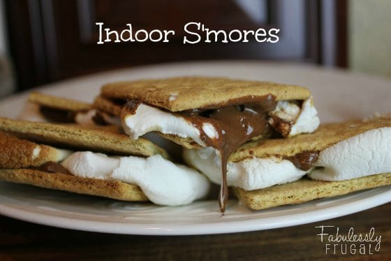 Indoor s'mores on a plate