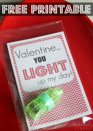 you light up my day free valentine printable diy valentine