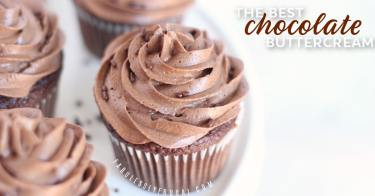 Quick and easy chocolate buttercream frosting recipe - cakes and cupcakes