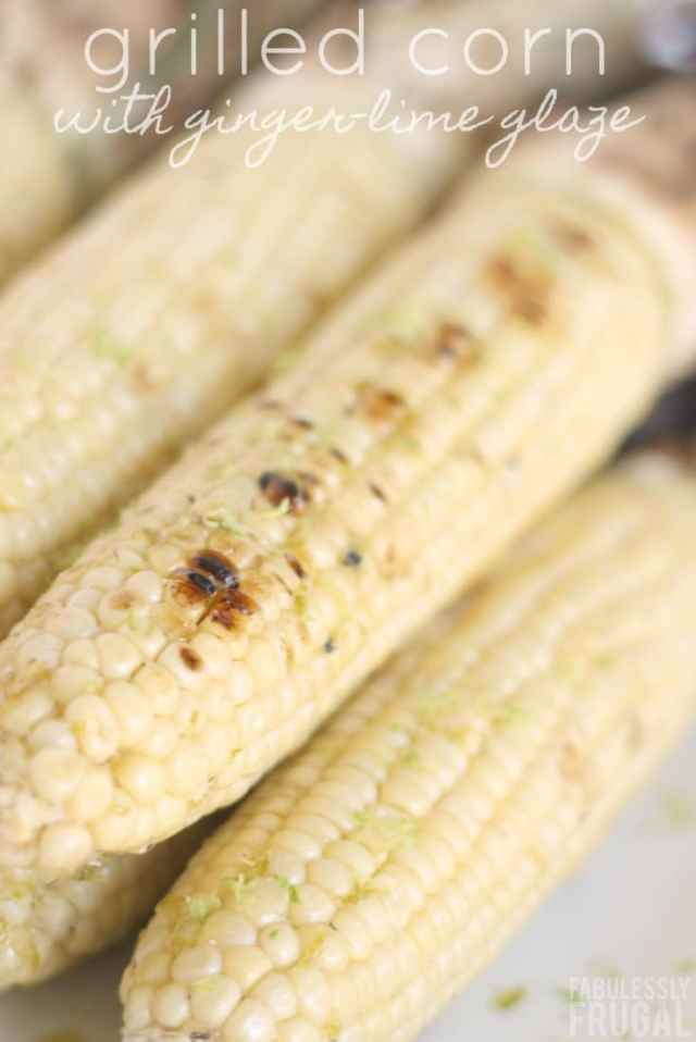 grilled corn on the cob with ginger-lime glaze recipe