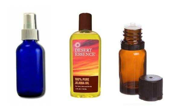 Ingredients for diy hair detangler with coconut oil
