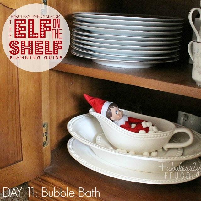25 Days of Elf on the Shelf Ideas: Day 11 - Bubble bath
