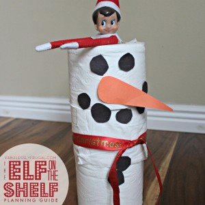 Elf on the Shelf idea: Toilet Paper Snowman