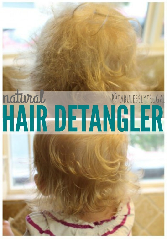 Natural diy detangling spray with coconut oil