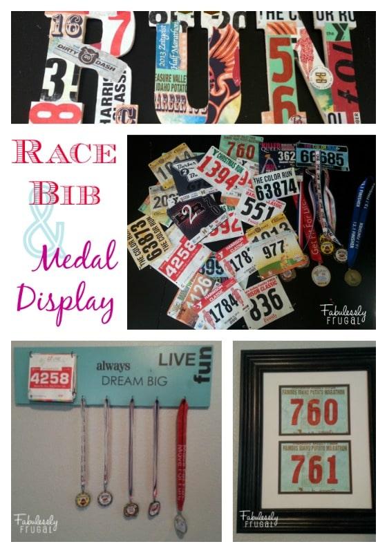 Race Bib and Medal Display Craft