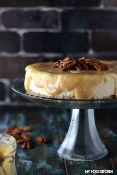 Low carb caramel cheesecake