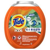 Amazon: 61 Count Tub Tide PODS 4 in 1 HE Turbo Laundry Detergent Pacs,...
