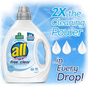 Amazon: 110 Loads all Liquid Laundry Detergent, Free Clear for Sensitive...