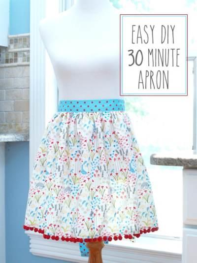 Easy DIY 30-minute apron