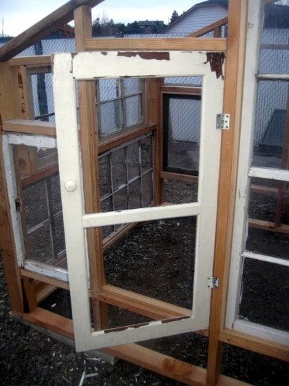 Hinged greenhouse window