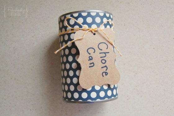 color DIY chore jar twine gift tag
