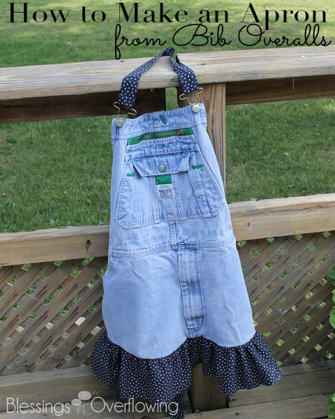 How to make an apron from bib overalls