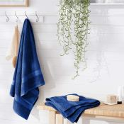 Amazon: 2 Pack AmazonBasics Fade-Resistant Cotton Bath Sheets, Navy Blue...