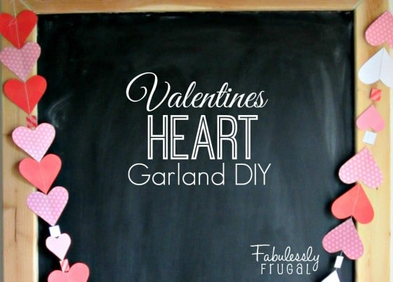 Valentines Heart Garland DIY cropped