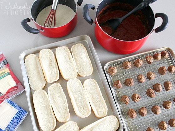 meatball sub sandwich recipe ingredients