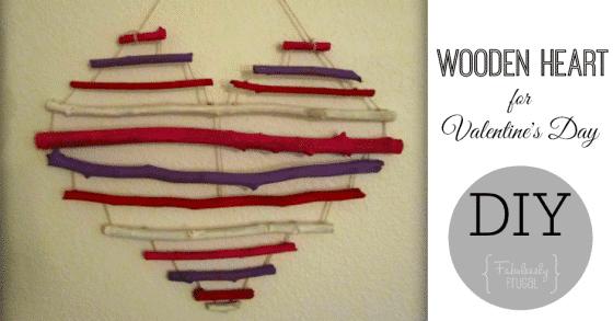 Wooden Heart DIY FB