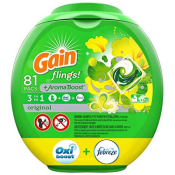 Amazon: 81-Count Gain flings! Liquid Laundry Detergent Pacs as low as $14.99...