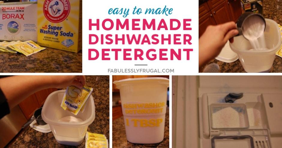 Best homemade dishwasher detergent