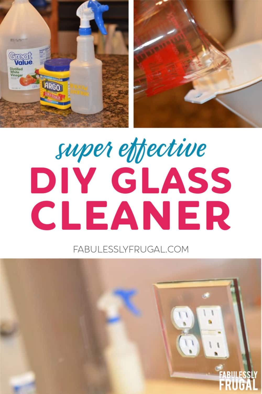 DIY glass cleaner recipe