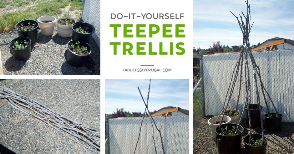 How to make a DIY teepee trellis