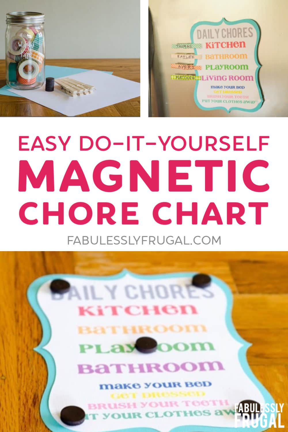 Easy magnetic chore chart DIY