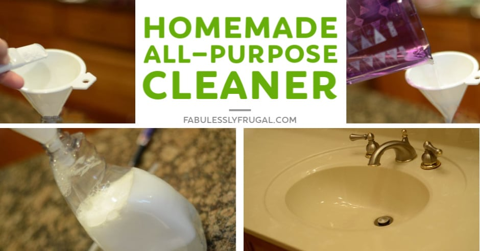 Homemade all purpose cleaner with dawn