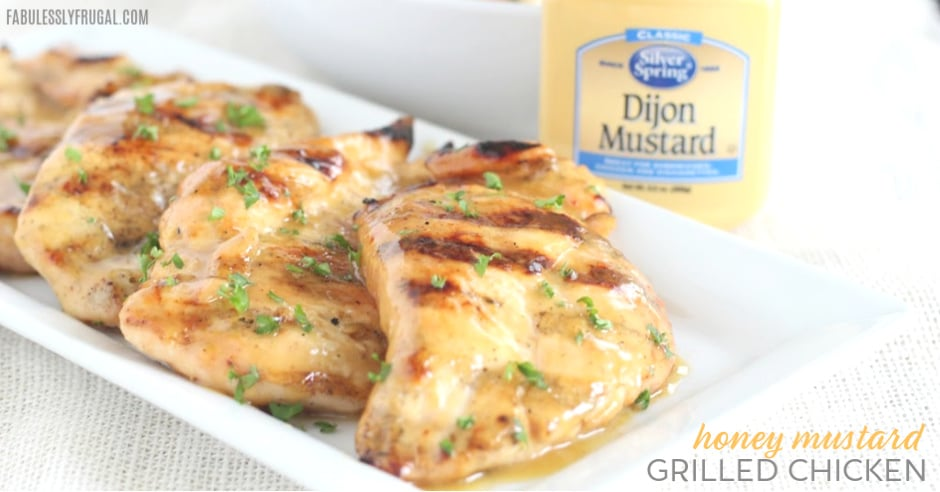honey mustard grilled chicken with dijon mustard