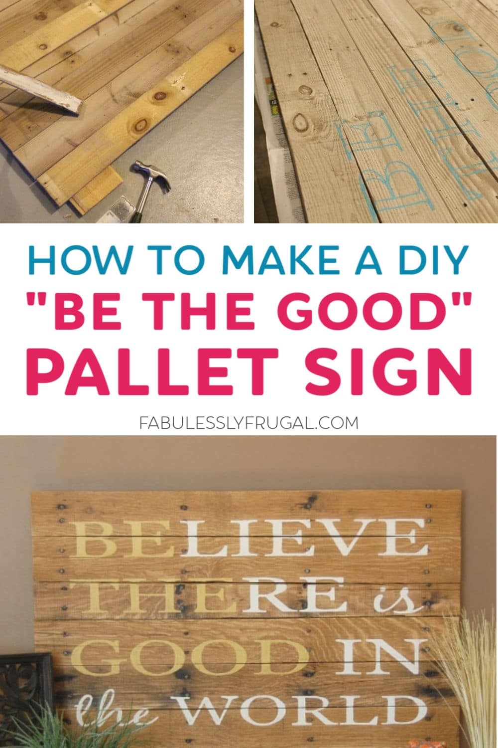 How to make a DIY pallet sign