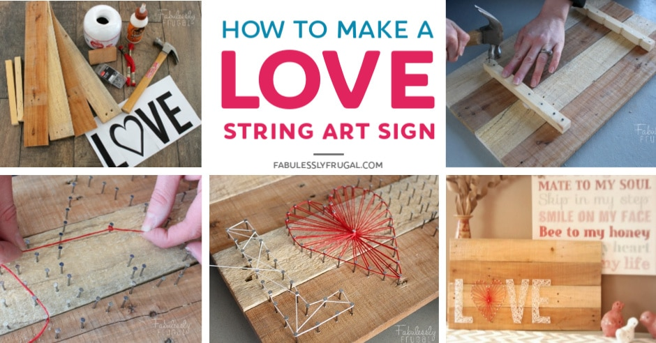 Love string art tutorial