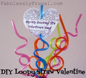 straw valentine card
