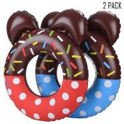 Amazon: Set of 2 Mickey Donut Kids Pool Floats $7.99 (Reg. $19.99)