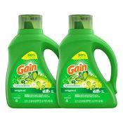 Amazon: 96 Loads Gain Laundry Detergent Liquid Plus Aroma Boost, Original...