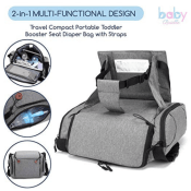 Amazon: Baby Brielle Portable Gray Travel Infant and Toddler Diaper Bag...