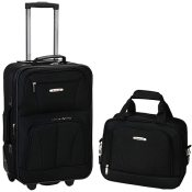 Amazon: 2 Piece Rockland Luggage Set, Black $29.69 (Reg. $79.99) + Free...