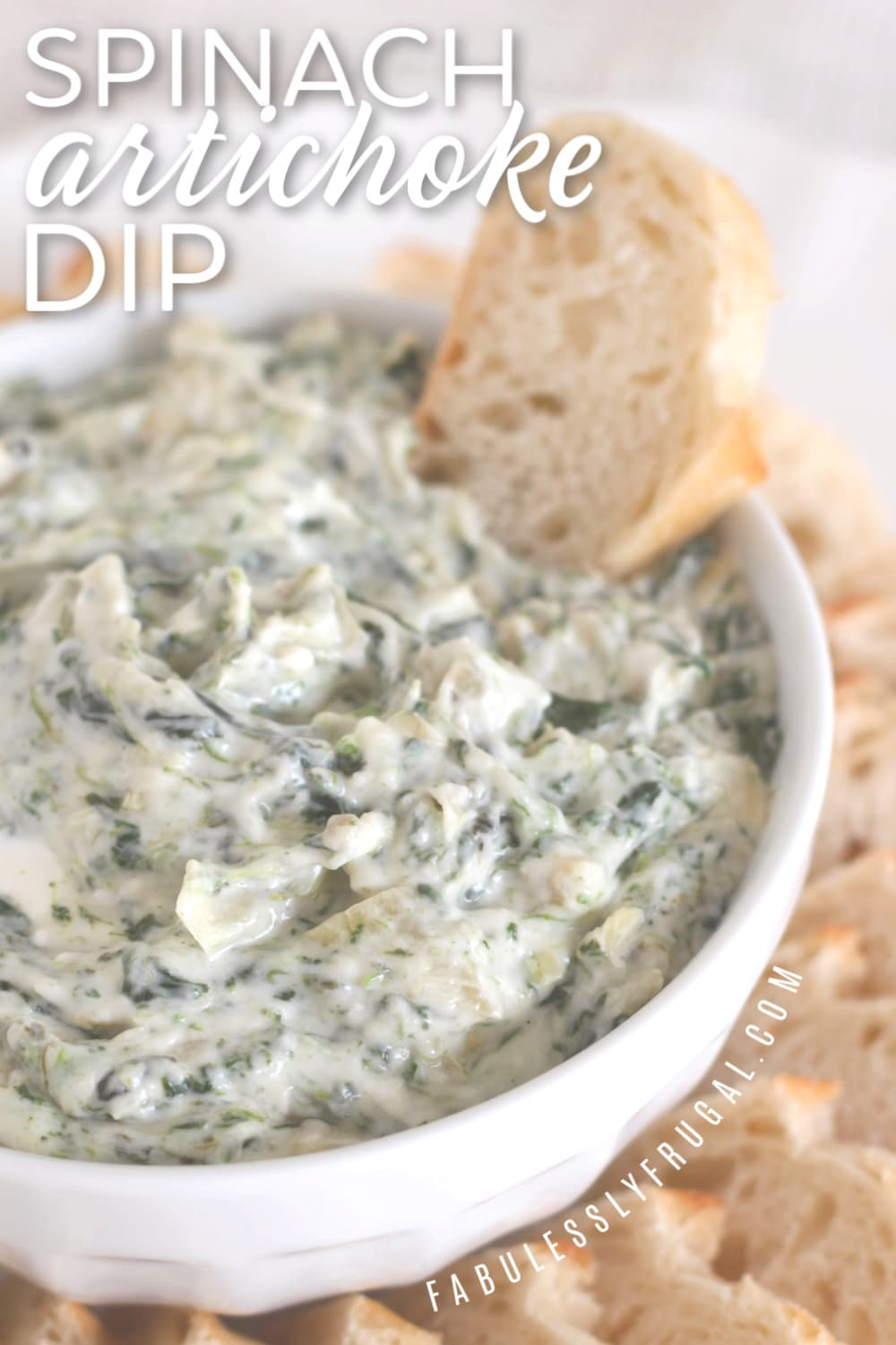 Easy spinach artichoke dip with alfredo sauce