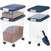 Amazon: 3-Piece Airtight Pet Food Container Combo w/ Wheels $19.99 (Reg....