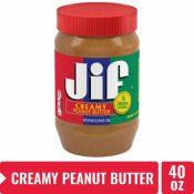 Amazon Prime: 40 oz Jif Creamy Peanut Butter $3.75 (Reg. $5.44)