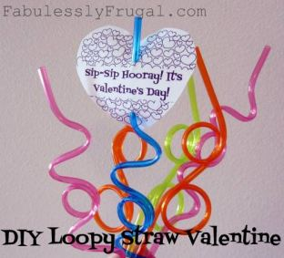 straw homemade valentine cards
