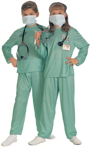 Childs ER Doctor Costume, Large (Size 12-14) (Ages 8-10) by Rubie's