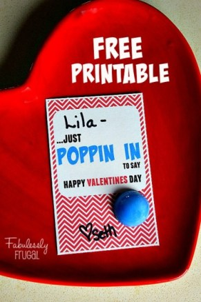 Valentines day popper