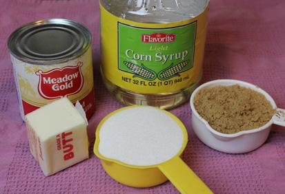 microwave caramel ingredients