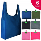 Amazon: 6 Pcs Reusable Grocery Bags as low as $6.49 (Reg. $12.99) - FAB...