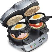 Amazon Black Friday: Hamilton Beach Dual Breakfast Sandwich Maker with...