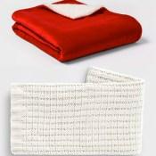 Target Black Friday: Threshold Sherpa or Chenille Throw Blankets $10 (Reg....