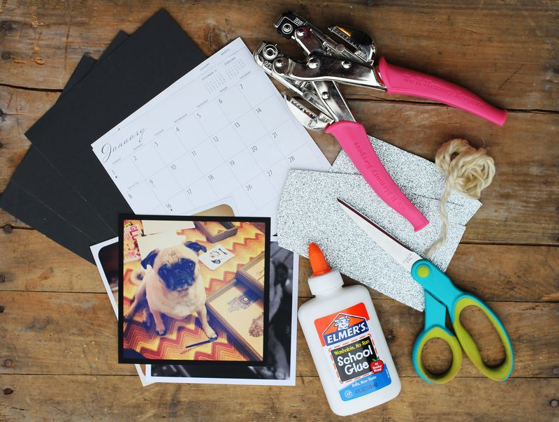 DIY instagram calendar supplies