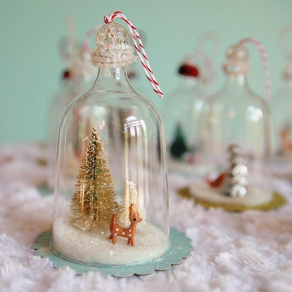 Reindeer bell jar ornament