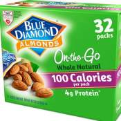 Amazon Cyber Week! 32 Pack On The Go Bags Of Blue Diamond Almonds, Whole...