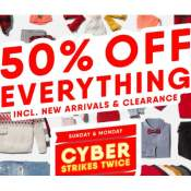 Today Only! Old Navy Cyber Monday! 50% Off Everything