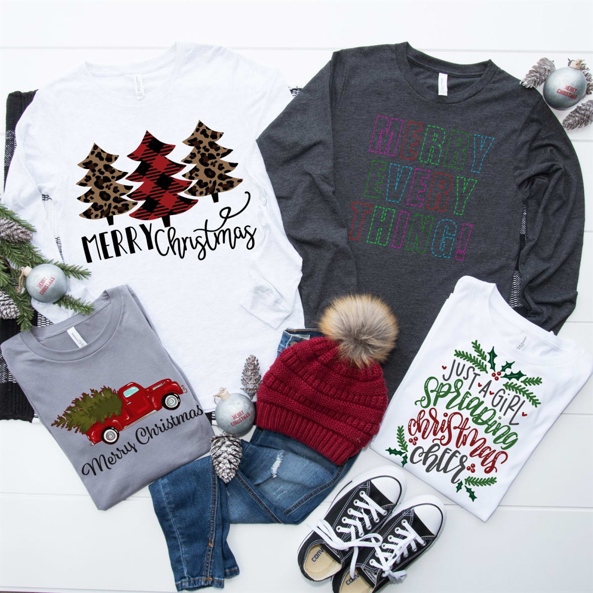 Last chance jane christmas cheer long sleeve tees - How long do modular homes last ...