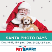 PetSMart Holiday Deal! FREE Photo with Santa - Two Weekends Only!